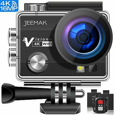 Caméra Sport Action 4K Ultra HD WiFi 16MP Étanche 30M Grand Angle Rechargeable