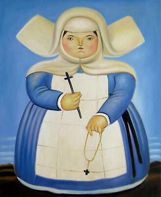 Rep. Fernando Botero 16x20 in. stretched Oil Painting Canvas Art Wall Decor m019