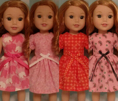 """14.5"""" Doll Dress fits 14.5 American Girl Wellie Wishers Doll Clothes 205abc"""