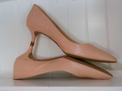 21bb07eaea Nine West Size 6.5 Blush Pink Leather Classic Executive Spring Summer Pump  Heels