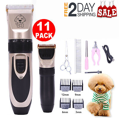 Electric Dog Cat Grooming Clippers Trimmer Cordless Pet Hair Nail Shaver Razor