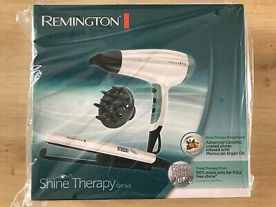 Remington Hair Straightener and Dryer Shine Therapy Gift Set - New, Sealed