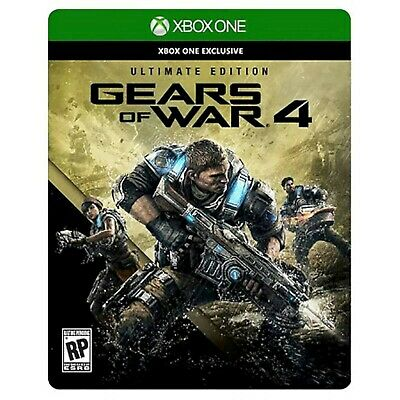 NEW Gears of War 4 Ultimate Edition Xbox One Video Game SteelBook Season Pass