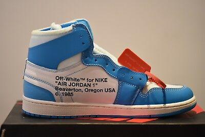 the latest 045e6 7bf55 The Ten Nike Air Jordan 1 x Off White UNC UK 10.5 US 11.5 EU 45.5