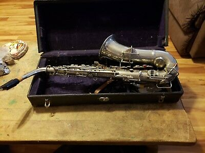 Vintage Conn Alto Saxophone  Elkhart year 1914 has union stamp high pitch RARE!!