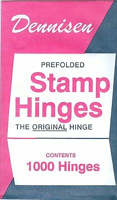 DENNISEN Prefolded Stamp HINGES Pack of 1000