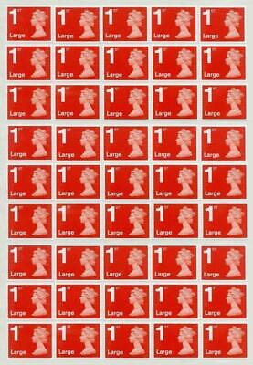 10 Free + 200 1st First Class Large Stamps RED Unfranked Off Paper No Gum