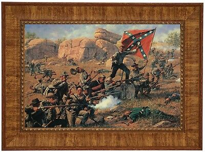 "Bradley Schmehl ""Devils Den"" Framed Civil War Art Print"