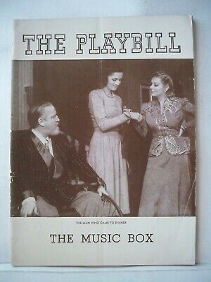 THE MAN WHO CAME TO DINNER Playbill MONTY WOOLLEY / MARY WICKES NYC 1940