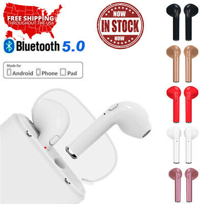 6de237c7522 Bluetooth Wireless Headset i7s TWS Earbuds w Charger Box- US Seller Ear  Earphone