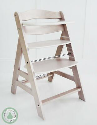 Hauck Alpha Wooden Highchair - White Washed Finish