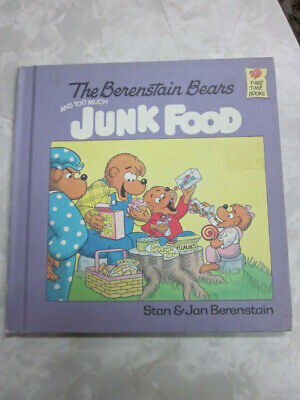 The Berenstain Bears and Too Much Junk Food hc 1985 grolier edition c51