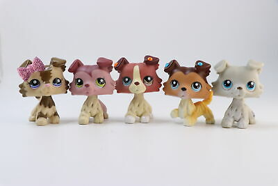 Littlest Pet Shop LPS Collie Dogs #1262 #1542 #2452 #1676 #2210 Authentic Rare