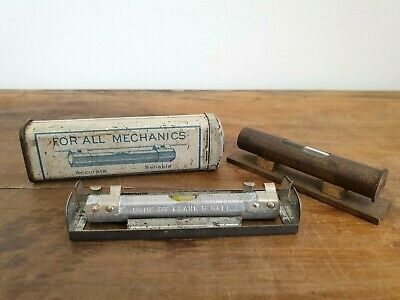 Vintage Brass Spirit Level &, Octagon line & surface level, Made by Frank B Hall
