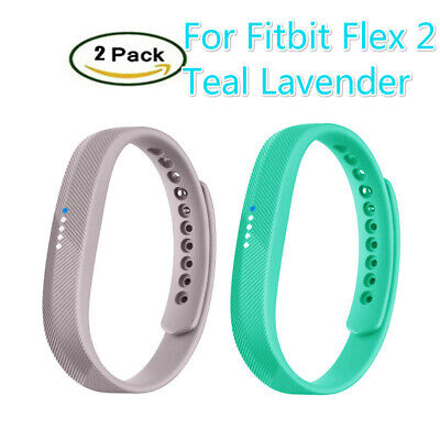 2 Pack Bracelet Wristband Replacement Band Large Small Size For Fitbit Flex 2