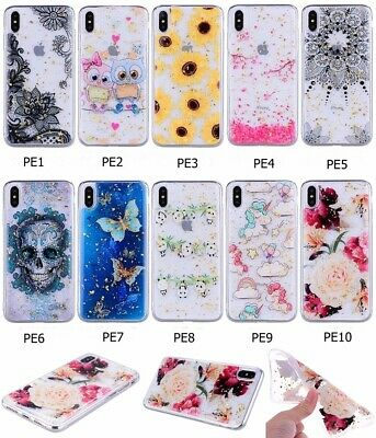 Fashion Glitter Printed Patterned Soft Silicone Rubber Case Cover For Phone AK2