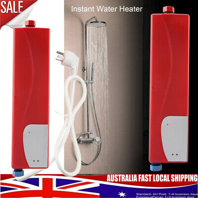 Red Portable Instant Electric Hot Water Heater System Under Sink Tap Faucet AU
