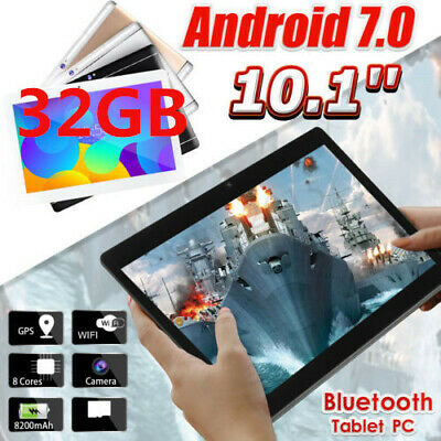 """10.1"""" Inch FHD Tablet PC Android 7.0 ten-core 32GB WIFI Dual Camera bluetooth US"""