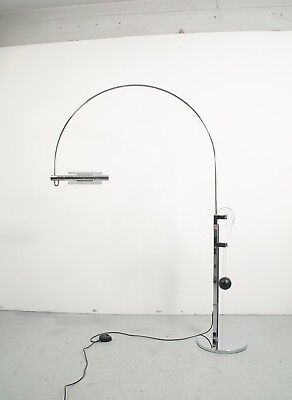 Large Baltensweiler 2080C Halo Mobil Arc floor lamp design R R Baltenweiler 1980