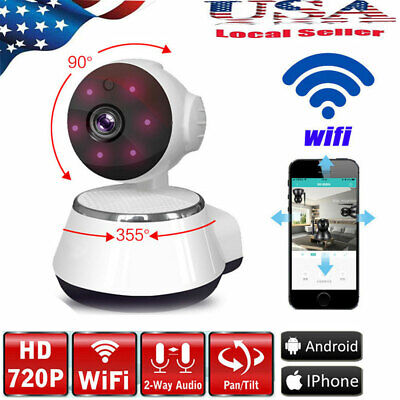 720P WIFI Wireless Pan Tilt Security IP Camera CCTV Night Vision Security Cam