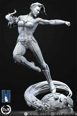 3D STL FILE Marvel captain marve for CNC Router Carving Machine Artcam  aspire