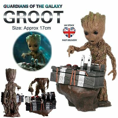 Guardians Of The Galaxy Vol.2 Baby Groot Push Bomb Button Figure Statue Toy Gift