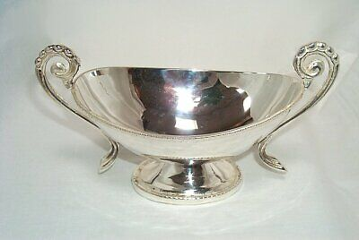 G167: Elegant Sauce Boat in Empire Style Silver Plated