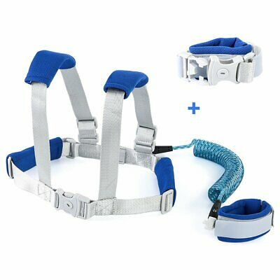 Toddler Kids Baby Anti-lost Safety Walking Harness + Wrist Link Hand Strap Leash