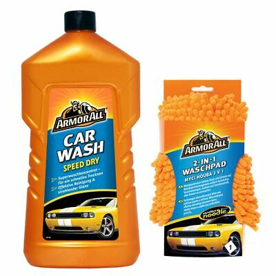 ARMOR ALL Car Wash Speed Dry 1.000 ml + 2 in 1 Wash Pad Autopflege Set