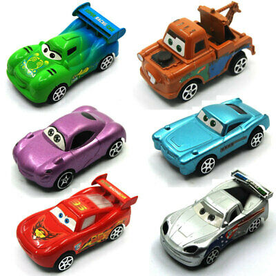 6pcs Pixar Cars Lighting McQueen Mater Diecast Collectible Kids Cars Toys Gift