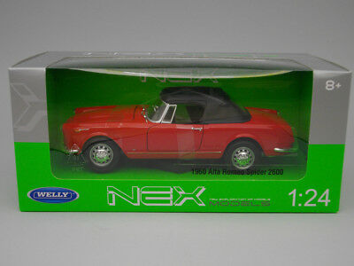 Alfa Romeo Spider 2600 (1960) Red - Welly - 1:24 - We24003re