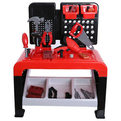 Toddler Boy Toy Tool Set Box Workbench Pretend Play Kid Drill Learning Game Kit