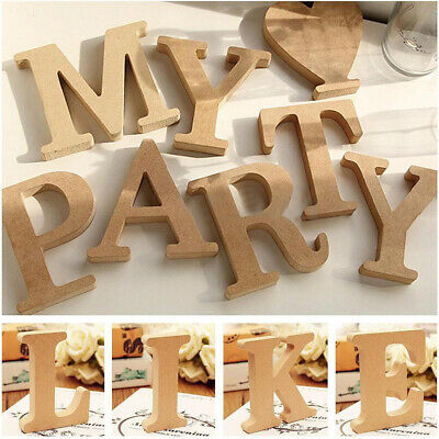 Freestanding A-Z Wood Wooden Letters Alphabet Hanging Wedding Party Decor