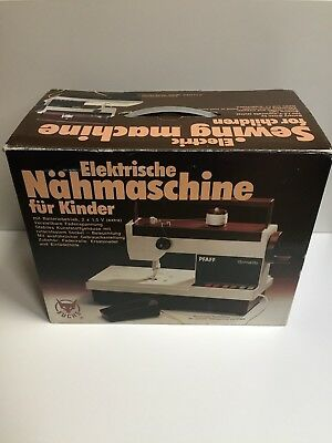 Retro Pfaff Tipmatic electric sewing machine for children No. 1085A 8010A