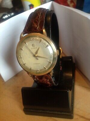 "GENTS VINTAGE ""CYMA"" WATCH Hand Wind 1950,s Gold Plated GWO"