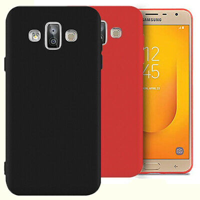 Soft Silicone Cover for Samsung Galaxy J7 Duo (2018) Back Phone Shell Light TPU