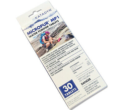 MicroPur MP1 Katadyn Water Purification Tablets Chlorine Dioxide 30 pack