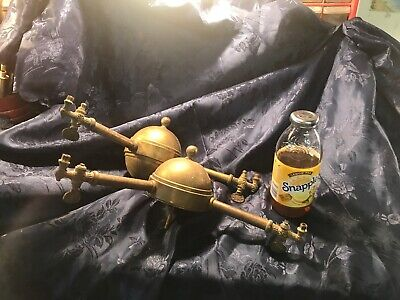 Antique 2 Arm Gas Wall Sconces 1890's Brass For Restore