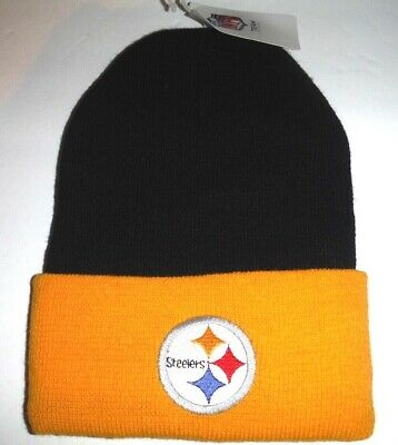 51137fd46a9ee Pittsburgh Steelers NWT Authentic Cuffed Beanie Toque Knit Hat NFL Reebok