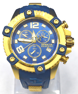 Swiss Made Invicta 11173 Reserve Arsenal 18K Gold Tone Chronograph Mens Watch