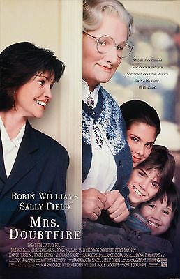 Mrs Doubtfire movie poster  (b) : 11 x 17 inches : Robin Williams poster