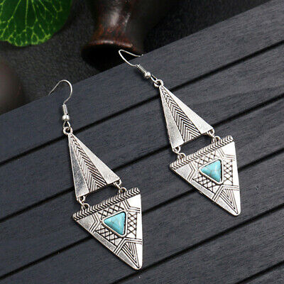Retro Vintage Geometric Pendant Earrings Female Trend Temperament Jewelry S