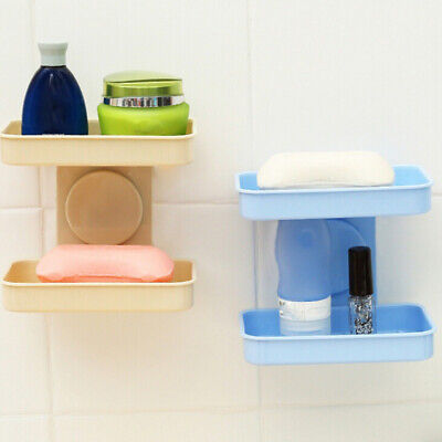 Creative Double-layer Strong Suction Cup Double-layer Drain Soap Box Soap