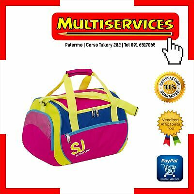 6aacfbfd92 Borsa Palestra Seven Sj Gang Active Time Gym Bag Rosa Giallo Free Time  Offerta