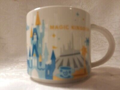 Disney Parks, Starbucks Magic Kingdom You Are Here Coffee Mug, NO BOX.