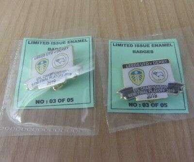 Leeds United Derby County Limited Edition Efl Championship Playoff 2018/19 Badge