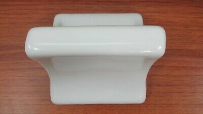 Vintage Wall Mounted Soap Dish Ceramic GLOSSY for Porcelain Tile Bath Kitchen