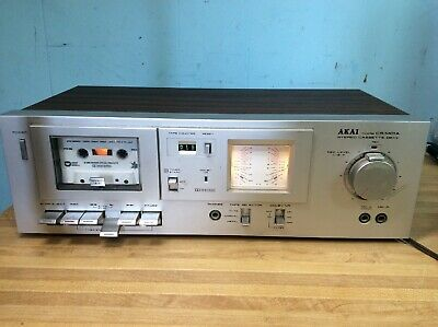 AKAI Stereo Cassette Deck Model CS-M01A Dolby System Tested/Works
