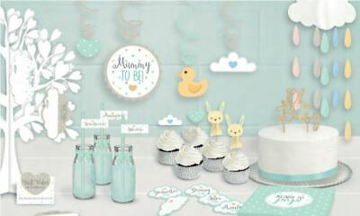 OH BABY RANGE UNISEX - Baby Shower Venue Table Decorations Balloons Bunting etc.