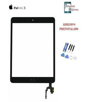 PANTALLA TACTIL IPAD MINI 3 CHIP IC Negro Negra + Boton Home + herramientas